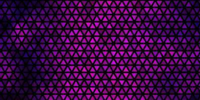 Dark Purple vector background with triangles.