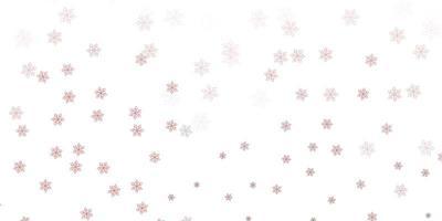 Fondo natural de vector rosa claro, rojo con flores.