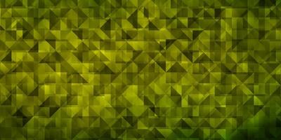 Light Green, Yellow vector background with triangles.