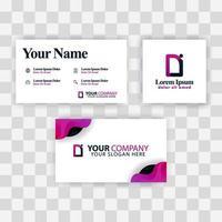 concepto de plantilla de tarjeta de visita limpia. vector creativo moderno púrpura. logotipo de letra de identificación corporativa degradado mínimo. Fondo de logotipo de lujo de la empresa di. logo d para impresión, marketing, identidad, identificación