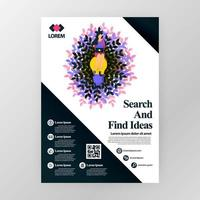 Business poster for company for seminars on finding ideas in marketing and promotion. Vector illustration concept for web, website, landing page, mobile apps, brochure, poster, magazine cover.
