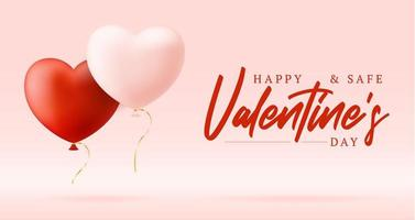 Happy and safe Valentines day sale background