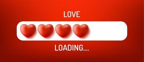 Love loading concept
