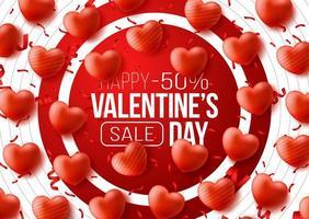 banner web promocional para la venta del día de san valentín.