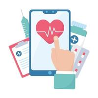 Heart pulse inside smartphone document and injection vector design