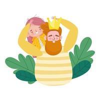 feliz dia del padre, lindo padre e hija flores amor vector