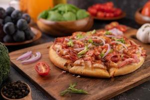 Homemade pizza with ingredients
