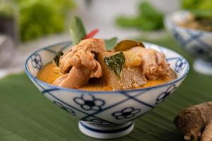 Chicken curry with wax gourd soup