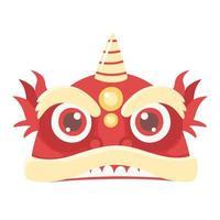 icono de personaje de dibujos animados de dragón chino vector