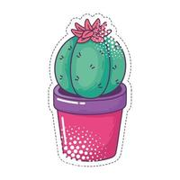 potted cactus flower pop art element sticker icon isolated design