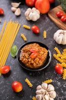 Homemade pasta sauce photo
