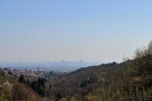 View of the city from a mountain photo