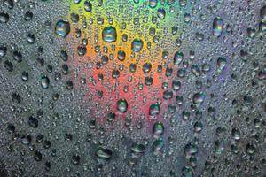 Water drops close-up