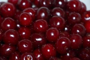 Close up of cherries in a bowl