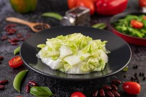 Close-up of stir fried cabbage photo