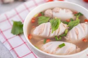 Squid soup bowl stuffed with pork