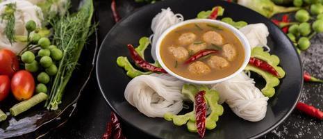 fideos de arroz con coco