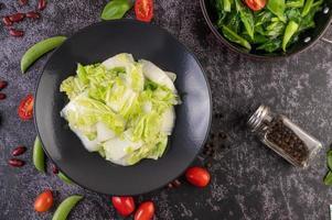 Stir fried cabbage photo