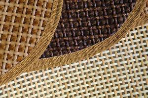 Fashionable wicker bag detail