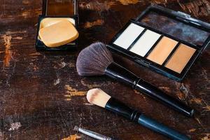 primer plano de maquillaje