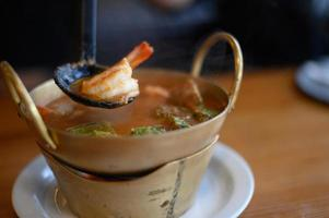 Cha-om sour soup photo