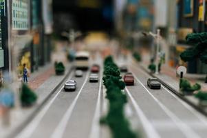 paisaje de ciudad de juguete en miniatura