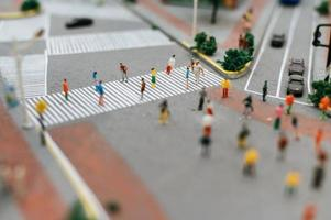 Small tilt shift city people