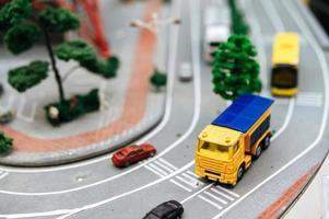 paisaje de tráfico de cambio de inclinación en miniatura