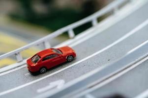 Miniature tilt shift traffic
