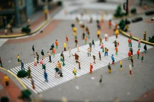 Small tilt shift people