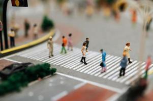 Miniature tilt shift people