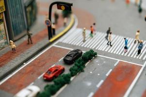 primer plano, de, paisaje en miniatura