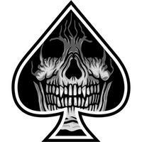 spade with skull vector