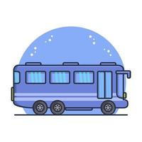 City Bus Illustrated In Vector On White Background