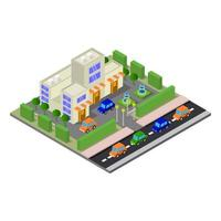 Isometric Shop Illustrated On White Background