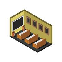 isometric cinema room in vector on white background