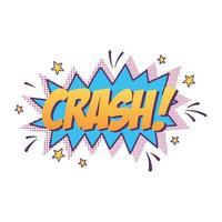 crash lettering pop art element sticker icon isolated design