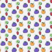 Fresh fruits pattern design on white background