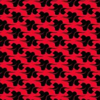 Clouds pattern on red background