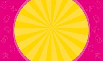 cartel de colores de banner de ventas de marco circular