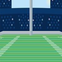 american football field scene icon vector
