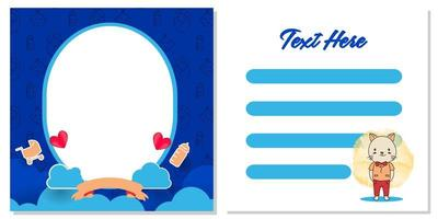 Baby shower greeting card template design for printing