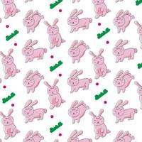 Cute cartoon bunny pattern design for print and decoration