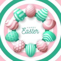Happy Easter egg banner frame