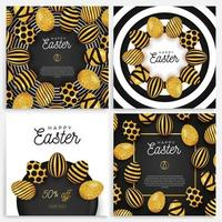 Easter egg banner set