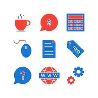 Icon Set Of Search Engine Optimization