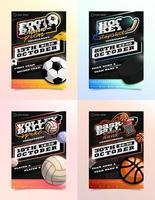 conjunto de anuncios de volante deportivo