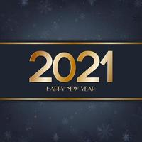 Happy New Year blue and gold background
