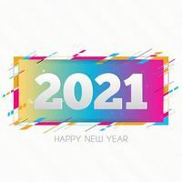 Tarjeta de diseño creativo feliz año nuevo 2021 sobre fondo moderno vector