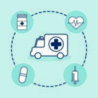 bundle of medical set icons